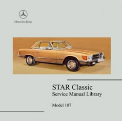 Mercedes Benz 107 Sclass coupe workshop manual 350sl 450 slc 560 107