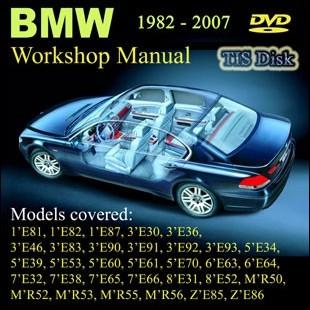 BMW Workshop Manual Petrol Diesel ALL SERIES 1982 until 2007