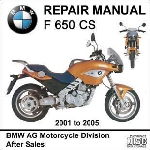 BMW F650CS workshop manual motorcycle F 650 CS