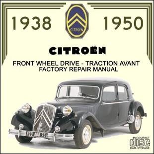 Citroen traction avant workshop manual 1938/1950 Citroën