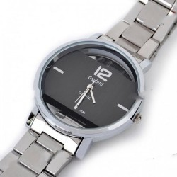 DayBird Rectangle Style Stainless Steel Quartz Wrist Watch - Silver