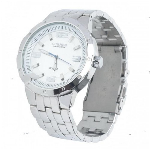 Stylish Stainless Steel Water Resistant Quartz Wrist Watch (1 x LR626)