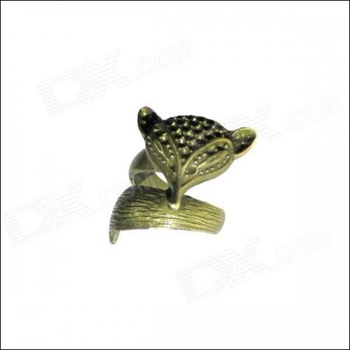 Fox Style Decorative Zinc Alloy Ring for Women - Bronze